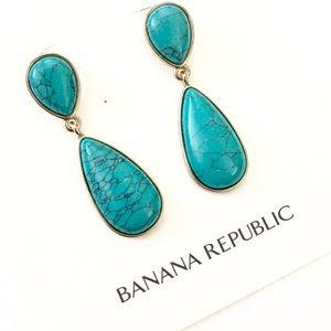 BANANA REPUBLIC Zumba Beach turquoise earrings NWT